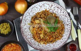 Вкусная гречневая каша с вешенками – рецепт пошаговый с фото