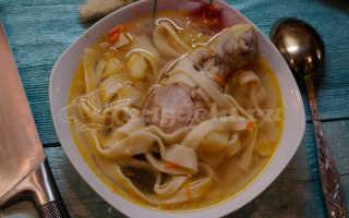 Куриный суп с домашней лапшой – рецепт пошаговый с фото