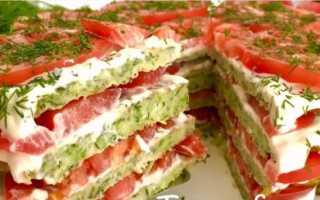 Закусочный торт из кабачков – рецепт пошаговый с фото