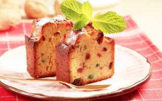 Рождественский кекс на скорую руку с цедрой, изюмом и цукатами – рецепт пошаговый с фото