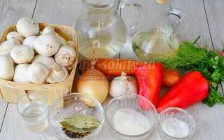 Маринованные шампиньоны со сладким перцем и морковью – рецепт пошаговый с фото