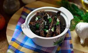 Бородинские гренки с чесноком – рецепт пошаговый с фото