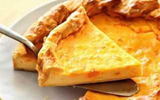 Открытый творожный пирог из слоеного теста – рецепт пошаговый с фото