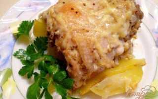 Куриные спинки с картофелем в духовке – рецепт пошаговый с фото