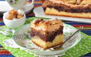 Пирог с яблочным повидлом и яблоками – рецепт пошаговый с фото