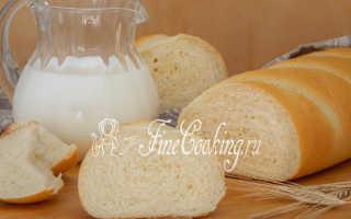 Молочный батон – рецепт пошаговый с фото