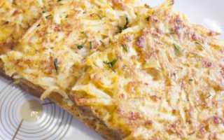 Бутерброды с жареным картофелем Сытные – рецепт пошаговый с фото
