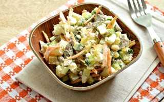 Овощной салат с запеченным картофелем – рецепт пошаговый с фото