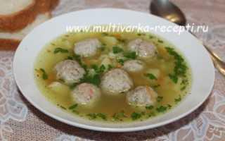 Суп с пшеном и куриными фрикадельками в мультиварке – рецепт пошаговый с фото