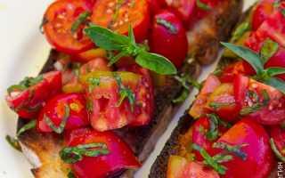 Брускетта из чиабатты с помидорами на электрогриле – рецепт пошаговый с фото
