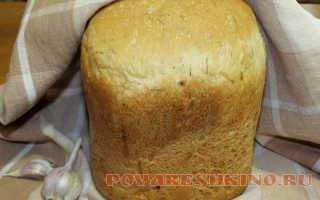 Чесночный хлеб в хлебопечке – рецепт пошаговый с фото