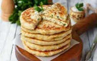 Сырные лепешки с начинкой в духовке – рецепт пошаговый с фото