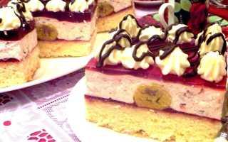 Пирожные с кремом и клюквой – рецепт пошаговый с фото