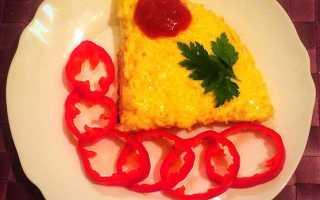 Омлет со вчерашними макаронами – рецепт пошаговый с фото