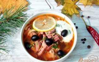 Солянка из говяжьих почек, свиных ребер и колбасных изделий – рецепт пошаговый с фото