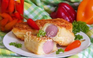 Сосиски в картофельном тесте в духовке – рецепт пошаговый с фото