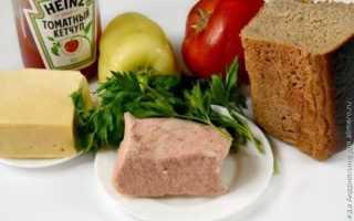 Быстрые овощные бутерброды на черном хлебе – рецепт пошаговый с фото
