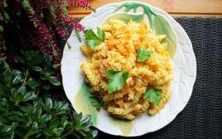 Простые макароны с луком и морковкой – рецепт пошаговый с фото