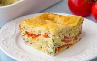 Заливной пирог с кабачками и помидорами – рецепт пошаговый с фото