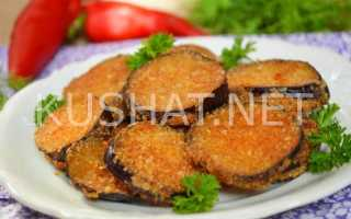 Хрустящие баклажаны в панировке из муки на сковороде – рецепт пошаговый с фото