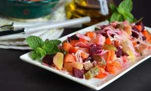 Винегрет с квашеной капустой и солеными огурцами – рецепт пошаговый с фото