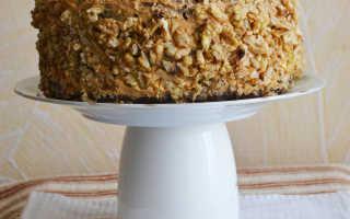 Шоколадный торт с ореховым кремом – рецепт пошаговый с фото