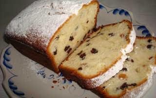 Кекс на кефире с творожной массой и изюмом – рецепт пошаговый с фото