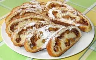 Рулетики дрожжевые с яблоками и сахарной пудрой в духовке – рецепт пошаговый с фото
