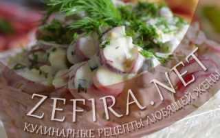 Салат с редисом и горошком – рецепт пошаговый с фото