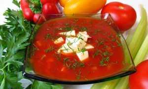 Холодный суп с луком и томатным соком – рецепт пошаговый с фото