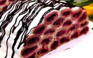 Блинчики с чернично-сметанной начинкой – рецепт пошаговый с фото