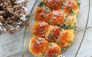 Пышки с чесноком и сыром в духовке – рецепт пошаговый с фото
