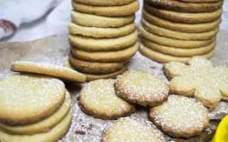 Быстрое печенье с сахарной пудрой – рецепт пошаговый с фото