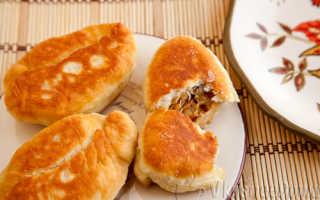 Тонкие пирожки с капустой на сковороде – рецепт пошаговый с фото