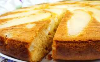 Пирог с грушами и сахарной пудрой – рецепт пошаговый с фото