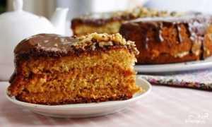 Медовый бисквитный тортик – рецепт пошаговый с фото