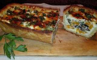 Вкусный пирог с тыквой и грибами – рецепт пошаговый с фото