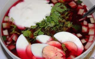 Свекольный холодник – рецепт пошаговый с фото