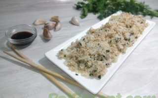 Ароматный рис в соевом соусе с зеленью – рецепт пошаговый с фото
