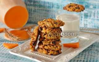 Овсяное печенье с тыквой – рецепт пошаговый с фото