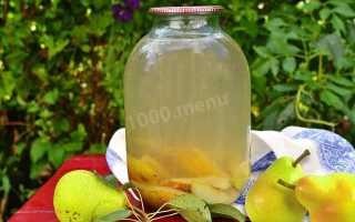 Компот из груш на зиму с лимонной кислотой на 3 литра – рецепт пошаговый с фото