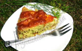 Пиццевый пирог с кабачками – рецепт пошаговый с фото