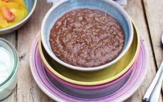 Овсяная каша с фруктами и шоколадом – рецепт пошаговый с фото