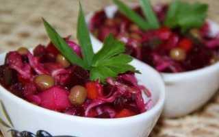 Винегрет с красным луком и фасолью – рецепт пошаговый с фото