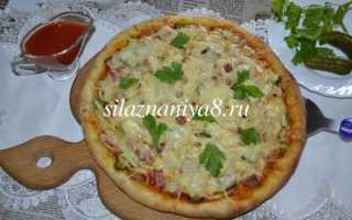Пицца с домашними огурчиками – рецепт пошаговый с фото