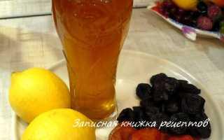 Компот из сухофруктов с черносливом и корицей – рецепт пошаговый с фото