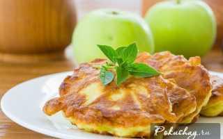 Яблочные оладьи к чаю – рецепт пошаговый с фото