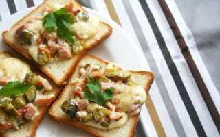 Горячие бутерброды с курицей в микроволновке по-французски – рецепт пошаговый с фото