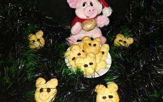 Новогоднее печенье Хрюшки – рецепт пошаговый с фото
