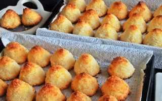 Нежное печенье на сковороде с кокосовой стружкой – рецепт пошаговый с фото
